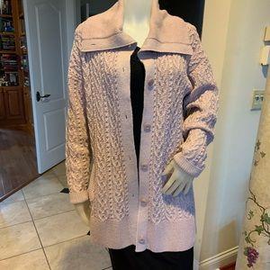 St John Sweater L Pink